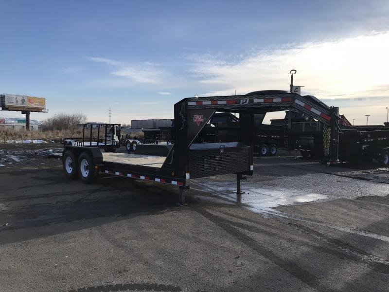 2018 PJ Trailers 20 Gooseneck Tilt Equipment Trailer