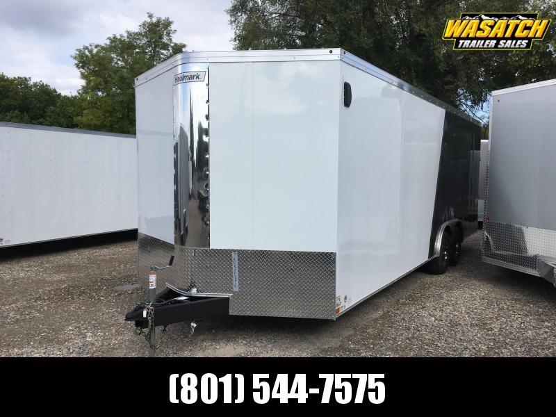 2020 Haulmark White & Charcoal 8x28 Transport Carhauler