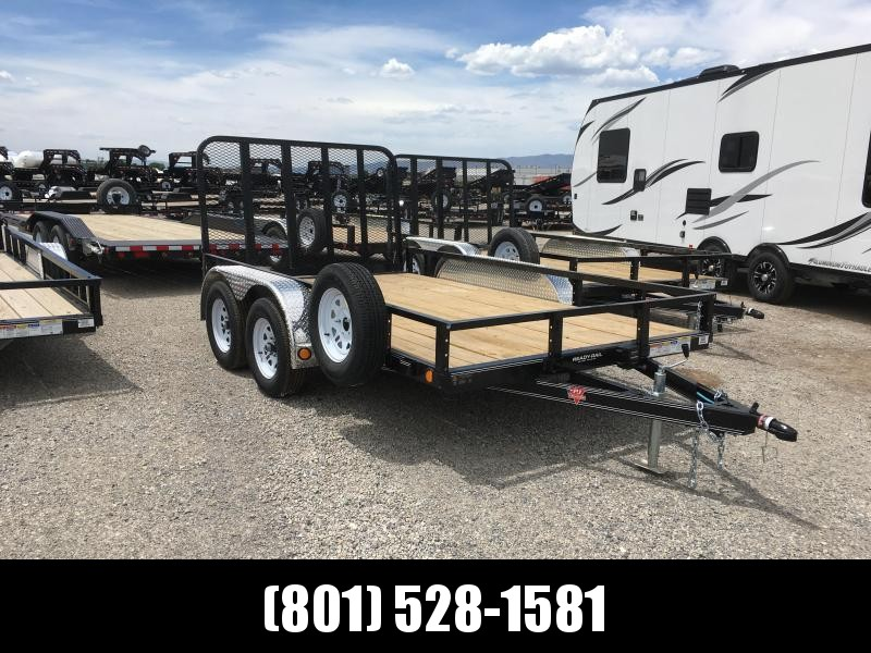 PJ 12ft - 83 in. Tandem Axle Channel Utility (UL) Utility Trailer
