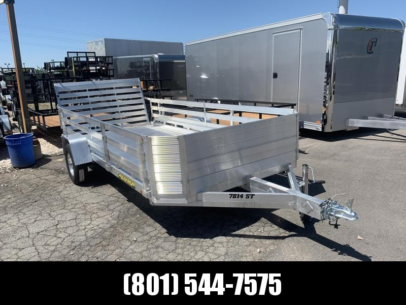 Aluma 7814ST Utility Trailer with 24in. Side Rails