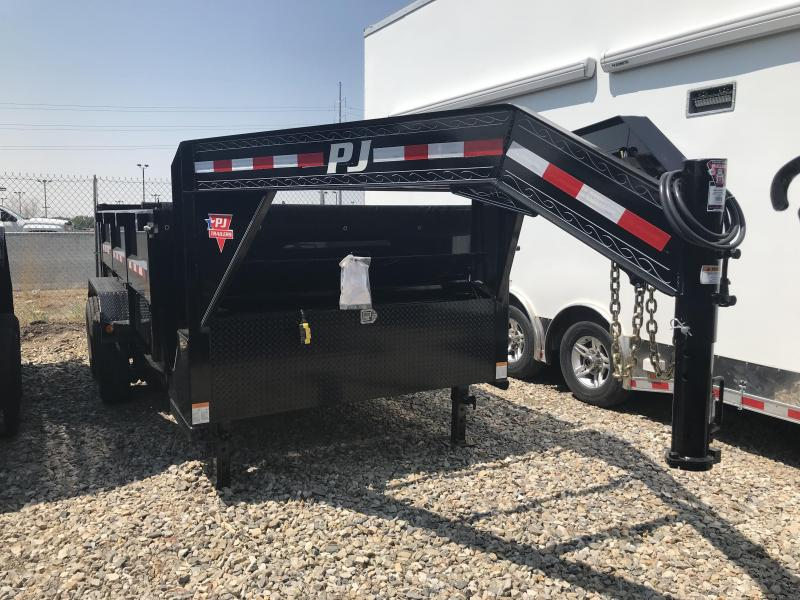 2018 PJ Trailers 14ft Gooseneck DMR Dump Trailer