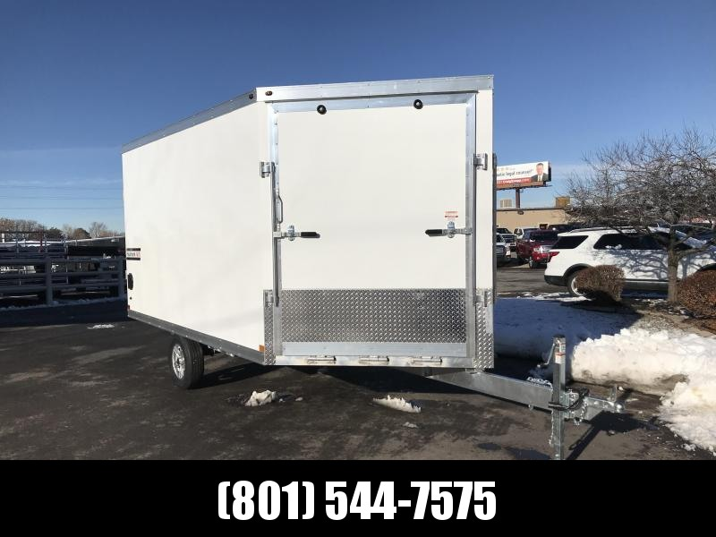 Haulmark 12ft White Aluminum Double Door Snowmobile Trailer