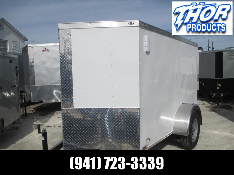 NEW 5x8 SA Enclosed Trailer V-nose side AND double rear doors