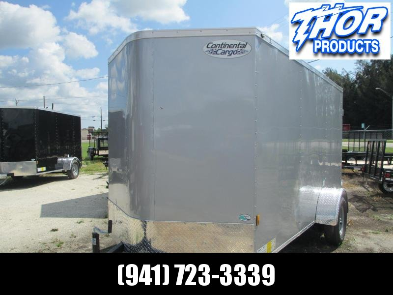 NEW 6X12 .030 Silver Trailer w/Double Rear Doors