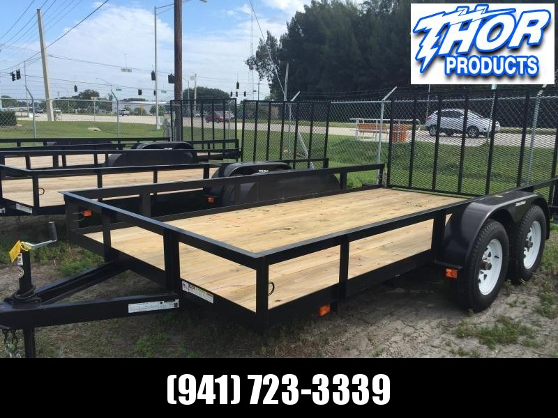 NEW 7X14 H/D UTILITY TRAILER T/A 1 axle Brake w/Ramp