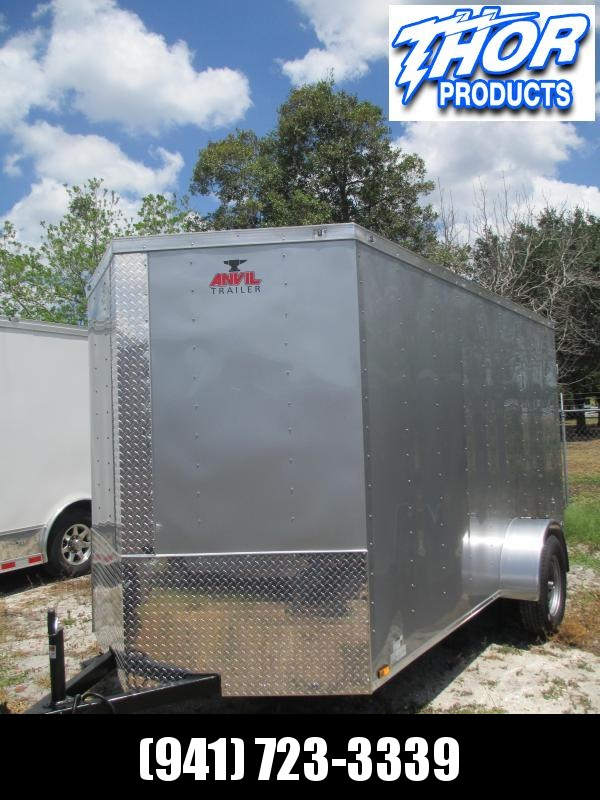 NEW 6 x 12 SA Trailer w/Double Rear Doors & side door SILVER