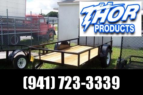 NEW 5X10 Utility Trailer w/Ramp POWDER COATED