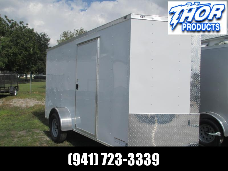 NEW 6 x 10 SA Trailer w/Ramp door side door RADIALS - WHITE