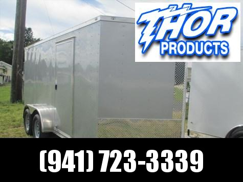 NEW 7 x 14 TA Enclosed Trailer V-nose Silver Ramp