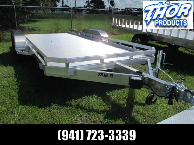 "NEW 6'6"" x 16' TA Aluminum Utility Trailer w/pull out ramps"