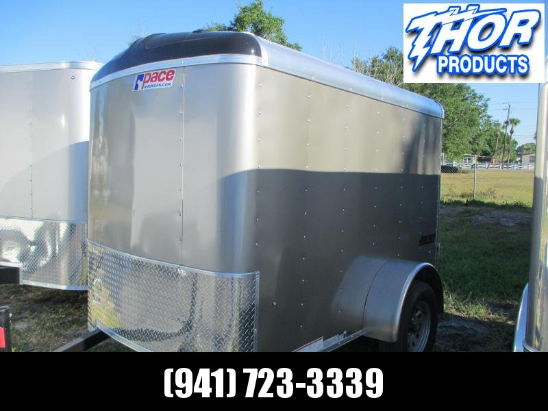 2019 Pace 5x8 Trailer Round Top Pewter w/Ramp and side door