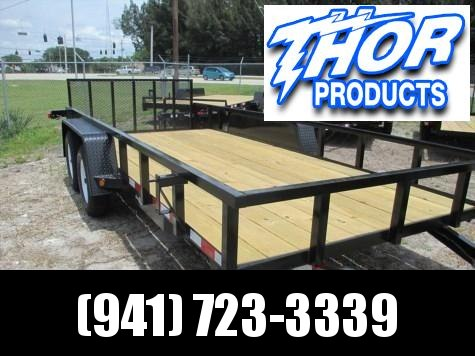 "Down 2 Earth 6'10"" x 16 TA Utility Trailer w/Tube Top and Ramp BRAKES"