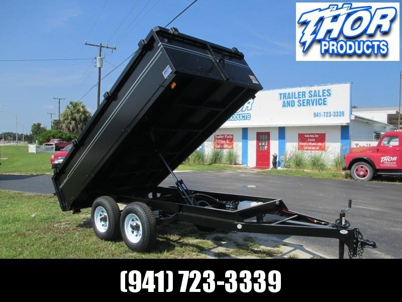6x12 TA Dump Trailer - Haul 8140#