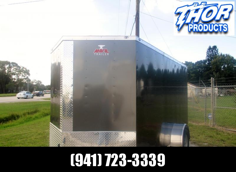 6 x 12 SA Trailer w/Ramp and Side Door Charcoal color