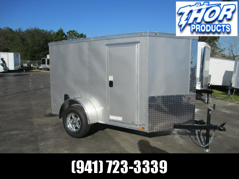 NEW 5x8V Cargo Trailer side door *ramp rear door ALUMINUM rims
