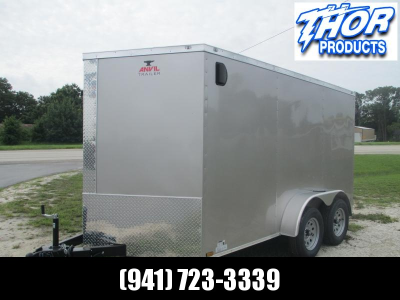 NEW 7X12 TA Enclosed Trailer Ramp .030 Champagne Color