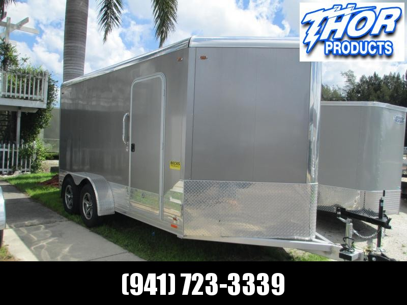 Like NEW 2018 7x17' LEGEND ALL Aluminum Enclosed Trailer w/ramp