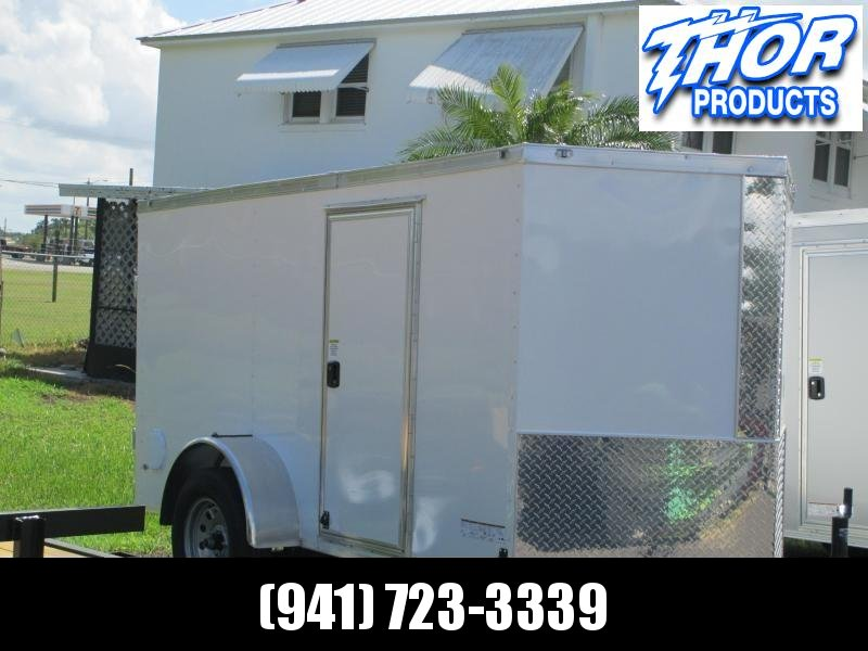 NEW 5 x 10 SA Enclosed Trailer w/side and Ramp Door RADIAL tires