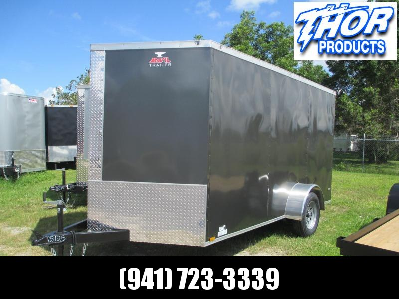 NEW 7X12 SA TRAILER W/RAMP CHARCOAL COLOR