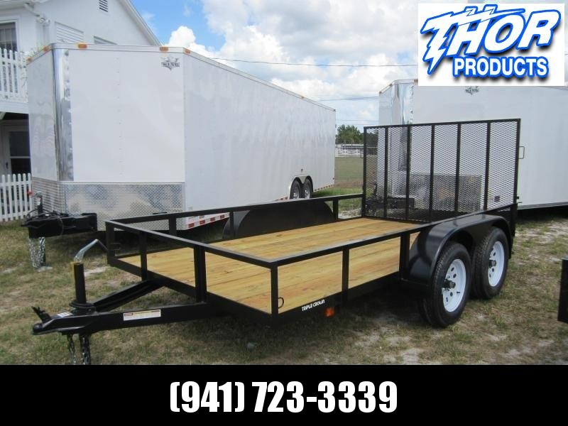 "NEW 6'4"" X 12' TA Utility Trailer w/1 axle brake and ramp"