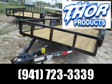"Down 2 Earth 6'10"" x 14 SA Utility Trailer * 2"" Tube Top * ATV Ramps in side Rails"