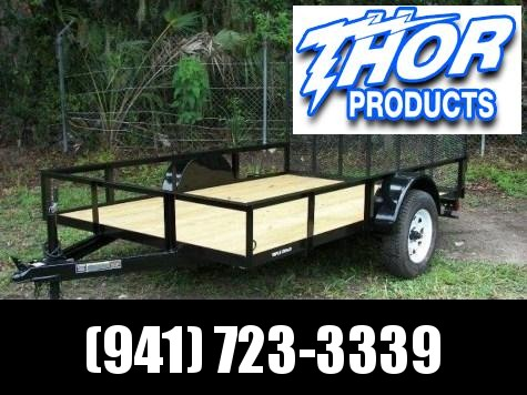 NEW 6.4 x 10 SA Utility Trailer w/Ramp