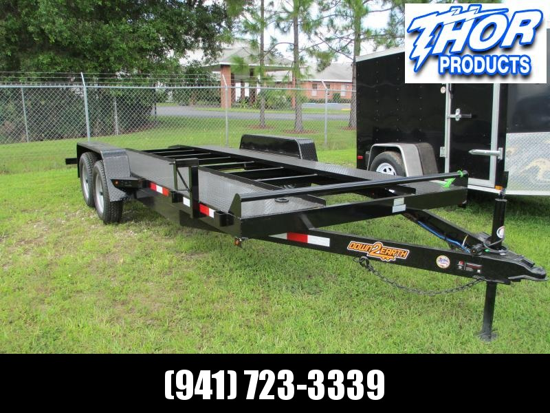 "82"" x 18' 7K Car Hauler - Steel Deck - Open Center Removable DS Fender"