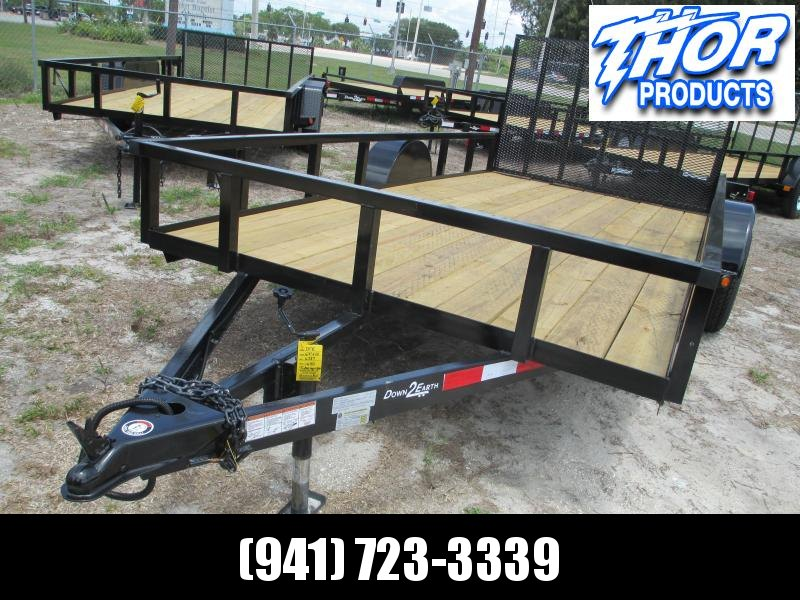 "NEW 6'4"" x 14 SA Utility Trailer * 2"" Tube Top * Ramp"