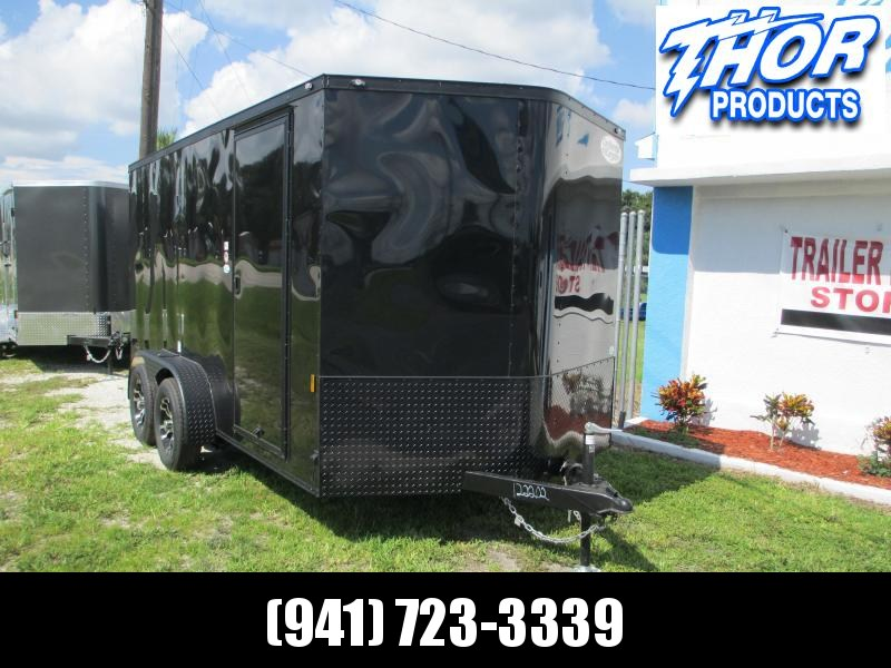 NEW 7X14 TA Trailer V-nose ramp w/BLACK OUT PACKAGE ALUMINUM RIMS!!