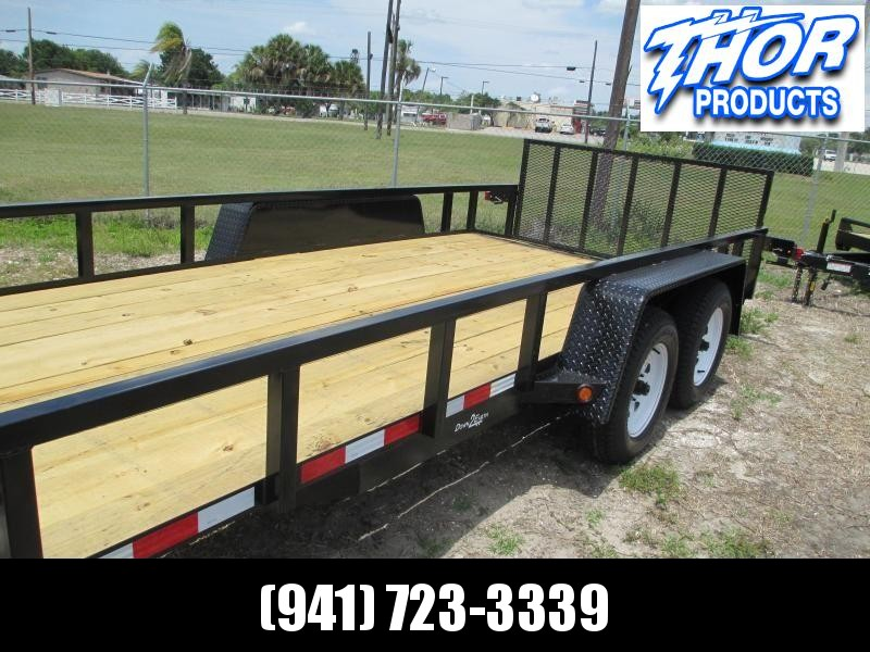 "NEW 6'4"" x 14 TA Utility Trailer w/2' Dovetail Brakes Tube Top Ramp"