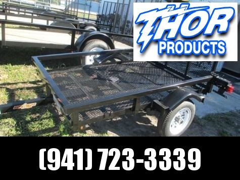 USED 4 x 6 SA Utility Trailer w/Ramp Tube Top Mesh Floor