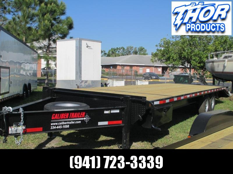 8x30 Deckover 14K Bumper Pull Equipment Trailer 25' + 5' Dovetail w/Monster Ramps