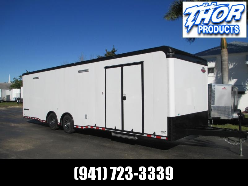 NEW 8.5 X 30 12K Car / Racing Trailer Flat Front w/Black Out Package and TONS OF EXTRAS!!