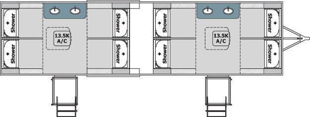 108B LuxuryLav Wide Body VIII 4X4 Shower / Restroom Trailer