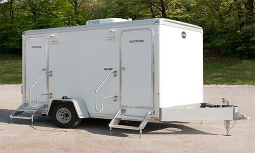 104A LuxLav WC 6121-4 Compact 4-Stall Restroom Trailer
