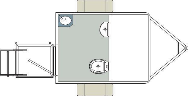 101B LuxuryLav Narrow Body Single Stall Restroom Trailer