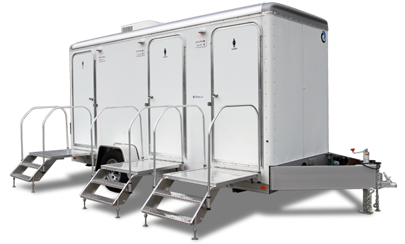14A LuxLav WC16-S 3-Stall Restroom/Shower Combo Trailer