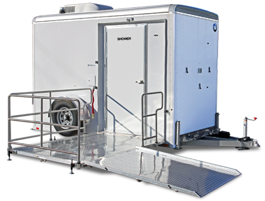 103A LuxLav WC6141-ADA-SD Single-Stall Shower / Restroom Combo Trailer