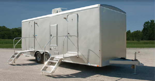 110 LuxuryLav Wide Body 8262-4F2M Multi-10 Stall Restroom Trailer