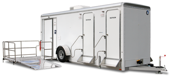 105C LuxuryLav Narrow Body ADA+4-  5-Stall Restroom Trailer