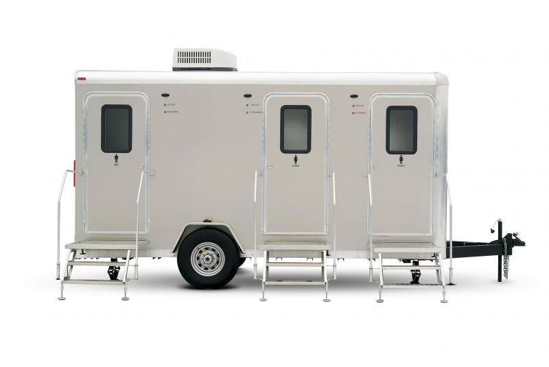 105 LuxuryLav Narrow Body-V Mini Restroom Trailer