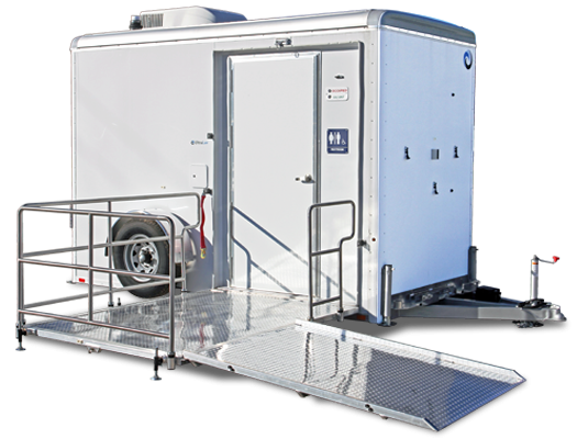 101A LuxuryLav Narrow Body ADA Single-Stall Restroom Trailer