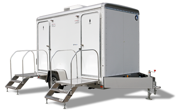 102D LuxuryLav Narrow Body 2 Stall Shower Combo Restroom Combo Trailer