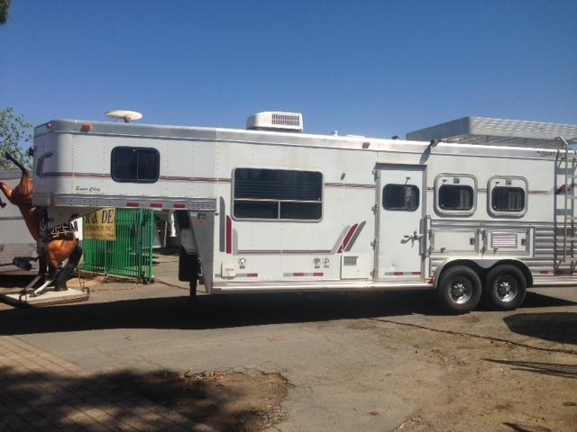 2001 Cherokee 8 wide 3 Horse Trailer