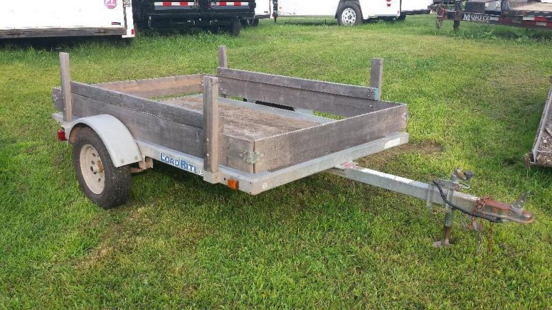2003 Load Rite 5x8 galvanized tilt deck utility trailer - new lights