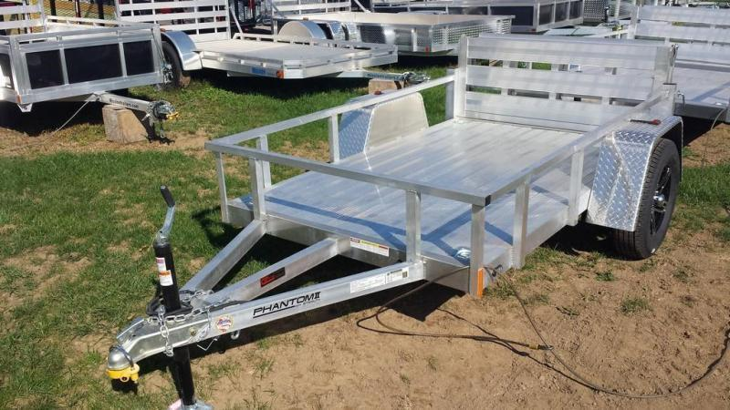 2019 Stealth Trailers 5x8 Alum Open Deck Rail Utility Trailer