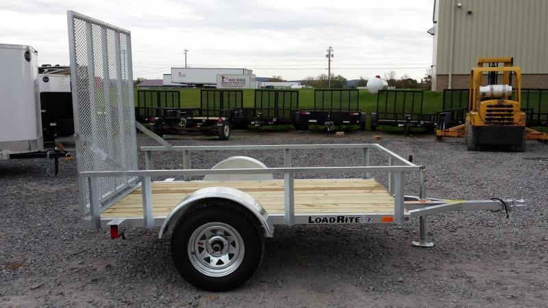 2015 Load Rite 5x8 galvanized utility trailer -open rails