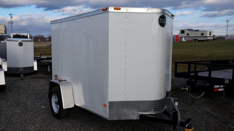 2015 Wells Cargo Fast Trac 5x8 Enclosed Trailer -white -barn door