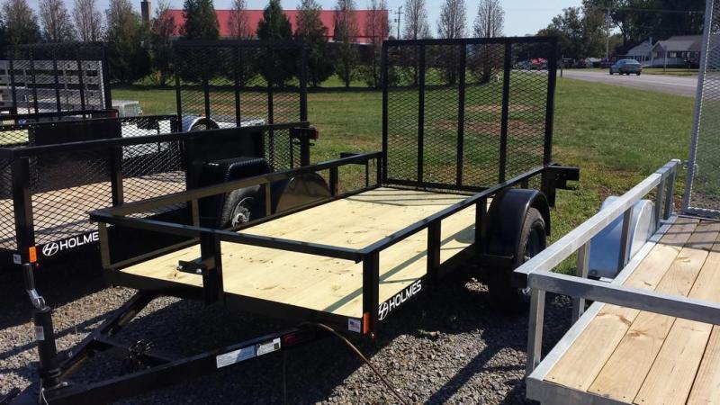 2017 Holmes 5x10 Open Rail Side Utility Trailer