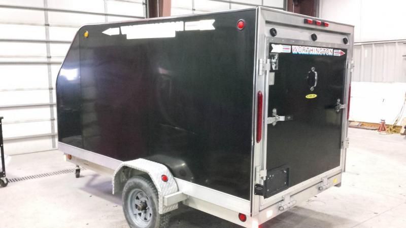 2007 Worthington Trailers 5x10 aluminum enclosed trailer -brakes -spare -LED